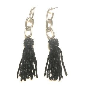 🆕 black tassel earrings